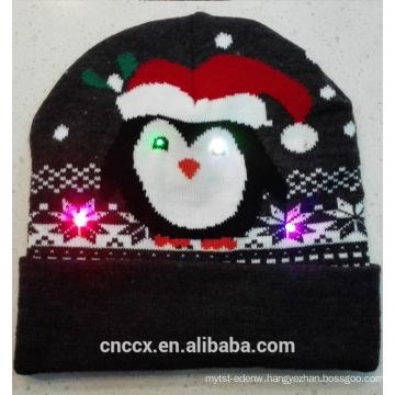16ZQ604 knit LED christmas beanie