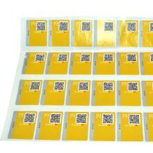 etiqueta de segurança de qualidade impressa etiqueta anti-contrafacção
