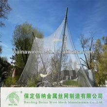 2015 Alibaba de acero de China cerca de animales / alambre de acero red de malla de cable para aviario zoológico