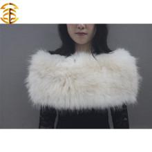 Новогодний теплый шарф шали для зимней шерсти для белого настоящего енота