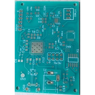2 layer Green Solder Via in pad PCB