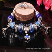 Moda Estilo Europeu Charm Beads Bracelet pulseira de vidro murano