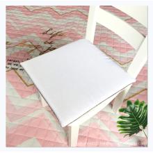 Customized logo hard cotton cushion linen non-slip chair cushion seat for office