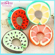 Almofadas em formato de U de algodão filli com frutas criativas PP