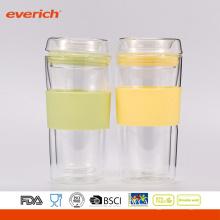 Sommer Bester Verkauf Einfache Reinigung Bunte Glas Tasse mit benutzerdefinierten Logo