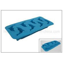 Bac à cubes de glace à base de dauphins en silicone (RS18)