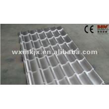 verglaste Dachplatte, die Maschine bildet / glasig-glänzende Fliese, die Maschine / Farbe herstellt, die Maschinerie bildet