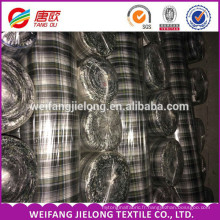 100% coton filé tissu de Shirting teint pour la chemise des hommes Chine en gros pas cher en vrac 100% coton teint tissu de Shirting de plaid