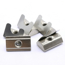 M8 Perfectly fit 40 series aluminum extrusion T-Nut with Spring Leaf