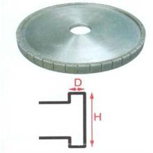 Bordure nouvellement adaptée aux besoins du client de meulage de diamant de diamant de bord de main de verre pour le crayon