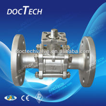 3-PC Flange Ball Valve With High Mounting