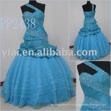 Производство 2011 бесплатная доставка одно плечо бисером сексуальный бальное платье пром платье PP2438 2011