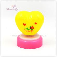 Yellow Heart Shape Push Light