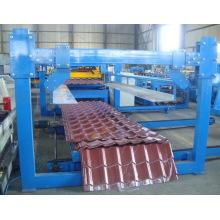 Профилегибочная машина для производства металлических кровель с эффектом плитки