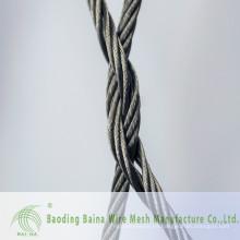 2015 Alibaba China proveedor alambre malla de malla de cable malla de alambre de acero inoxidable red de malla