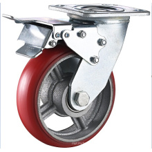 Heavy Duty PU Cast Iron Swivel Caster Wheel