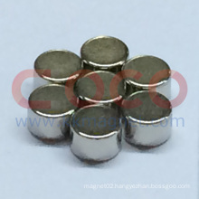 Small Round Neodymium Magnetic Materials with RoHS Approved