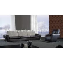 Mobiliário de sofá moderno em couro preto KW354