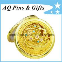 Miroir cosmétique de haute qualité avec placage d'or