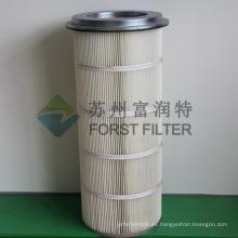 FORST Filtro de aire de cilindro de polvo de remoción de poliéster galvanizado