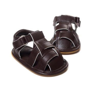 Infant Toddler Moccasins Black Baby Shoes Summer Sandals
