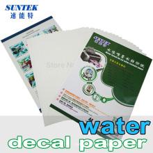 Papier de transfert de l'eau pour vitrocéramique plastique bougie tasse Cup