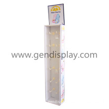 Customized Cardboard Sidekick Display with 12 Pegs for Shoe Charms (GEN-SK003)