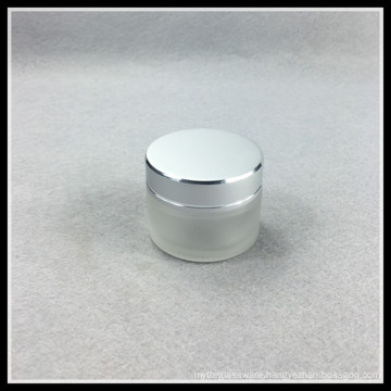 Empty 20g Frosted Glass Cosmetic Jars with Caps