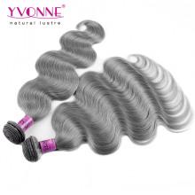 Nouvelle Arrivée Brésilienne Gris Cheveux Humains Weave