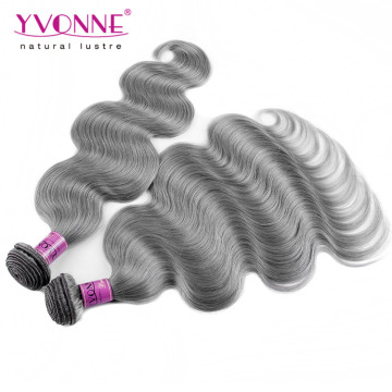 New Arrival Brazilian Grey Human Hair Weave