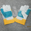 Color Blocking Leather Grad a/Ab/Bc Working Safety Glove