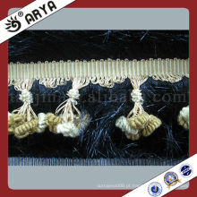 Pequeno Fluffy Pompom Tassel Fringe Curtain Fringe Table Sofa Laço Decorativo Para Travesseiros Fringe