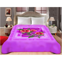 customized print & carved cheap polyester blanket