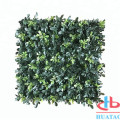 Bahan Plastik UV Bukti Daun Artificial Boxwood Hedge