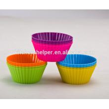 Customized Hot Selling FDA LFGB Approbation Food Grade Home Bricolage résistant à la chaleur anti-adhérent Soft Flexible Silicone Muffin Cups