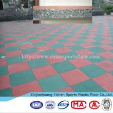 azulejos del piso de goma del almacén al aire libre
