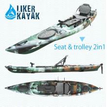PE rotomoldado solo sentarse en la pesca de kayak superior