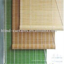 Persiana de bambú tejida