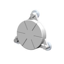 Kundenspezifische CNC-Drehmaschine Drehen Bohren von Aluminium-Sensorteilen