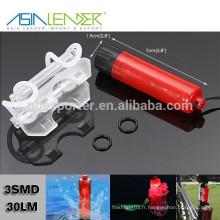 S'adapte à n'importe quelle bicyclette 1 * AAA Batterie Alimentation 3 Modes d'éclairage LED Bicyclette arrière Lumière