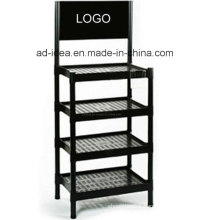 4 Layers Floor-Type Metal Display Stand/ Display Rack (MN-83)
