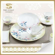 Conjunto de vajilla de banquete de flor azul, conjunto de vajilla de esmalte de craquelado