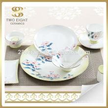 Ensemble de vaisselle de banquet fleur bleue, ensemble de vaisselle de glaçage crépitement