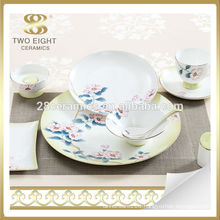 Blue flower banquet dinnerware set, crackle glaze dinnerware set