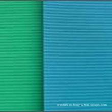 Hoja de goma de aislamiento con nervios finos azul verdoso