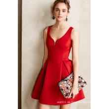Sexy Deep V Kleid Frauen Abendkleid