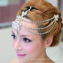 14k cristal branco tiaras coroa e jóias nupcial