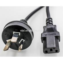 Cable de alimentación de 7.5A-10 A-15A 250V Cable de alimentación de la serie AUSTRALIA estándar AUSTRALIA con SAA, certificación .ROHS