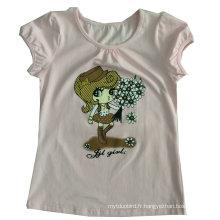 Le t-shirt des enfants de la mode mignonne de fille dans les vêtements d'usage d'enfants Sgt-085