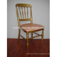 2015 Wholesale gold napoleon chiavari chair for hotel XA3032
